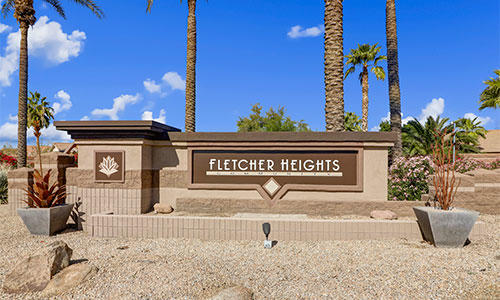 Entrance sign at Fletcher Heights in Peoria, Arizona