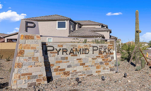 Entrance sign at Pyramid Peak in Peoria, Arizona