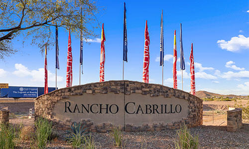 Entrance sign at Rancho Cabrillo in Peoria, Arizona