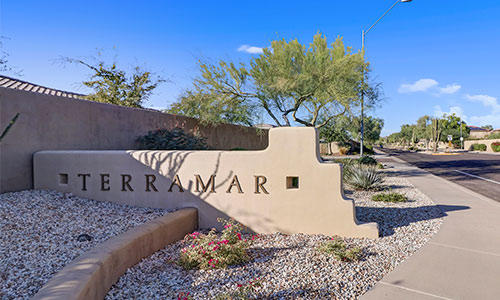 Entrance sign at Terramar in Peoria, Arizona