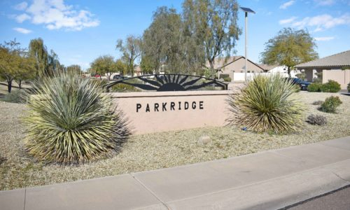Parkridge entrance sign
