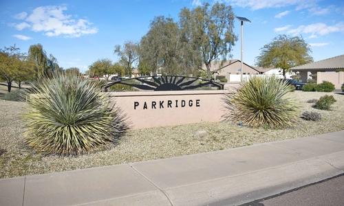 Parkridge entrance sign